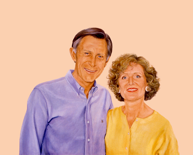 Sylvia Shap Realist Artist: Portrait of 'The Wilkies'