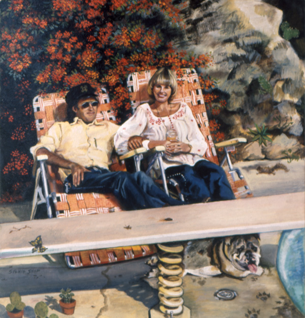 Sylvia Shap Realist Artist: Portrait of 'Captain and Tennille'
