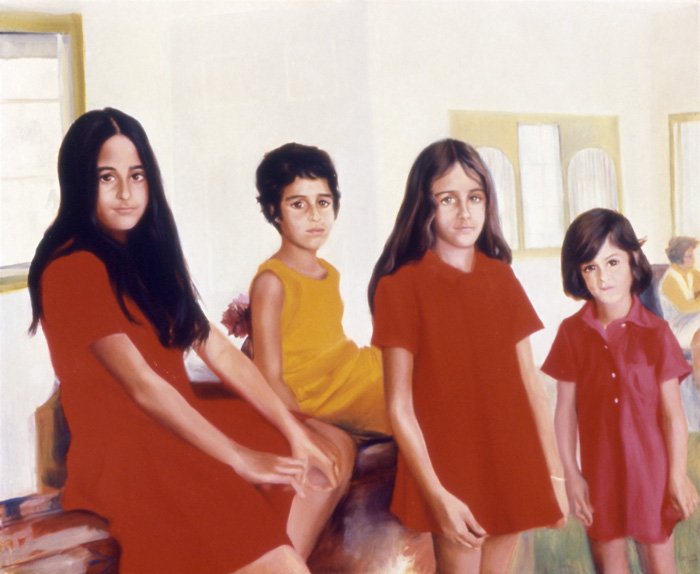 Sylvia Shap Realist Artist: Portrait of 'The Silvera Girls'