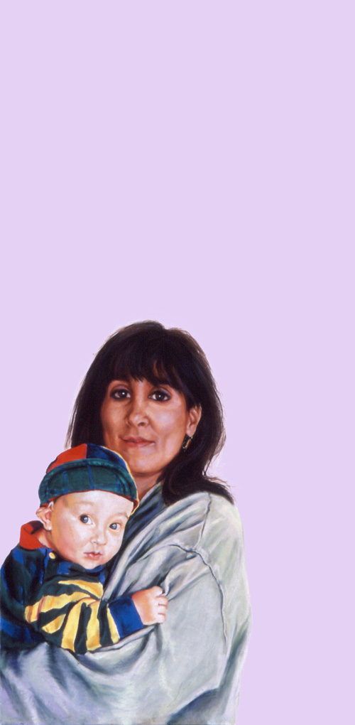 Sylvia Shap Realist Artist: Portrait of 'Mother and Child'