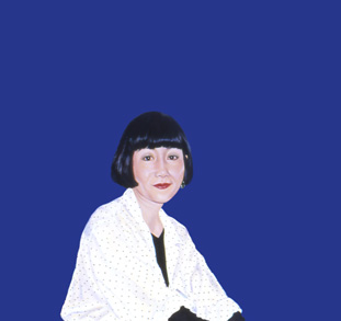 Sylvia Shap Realist Artist: Portrait of 'A Woman at Narita'